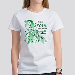I Wear Green I Love My Sister Women's T-Shirt